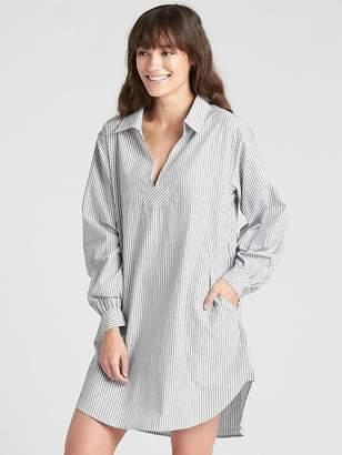 Gap Poplin Sleep Shirtdress with Embroidered Detail