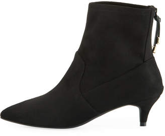 Cole Haan Harlow Pointed-Toe Stretch-Suede Booties