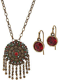 Linea by Louis Dell'Olio India Pendant Necklaceand Earring Set