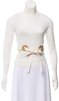 Valentino Silk Mock-Neck Sweater