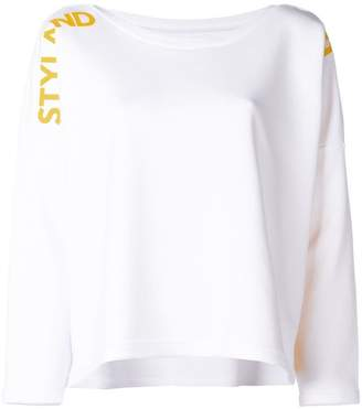Styland dropped shoulders logo sweater