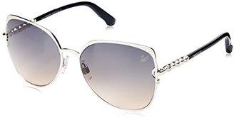 Swarovski Women's Aviator Sunglasses $195 thestylecure.com