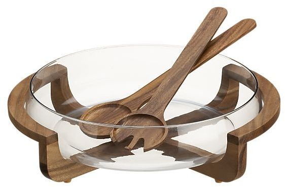 Acacia Salad-Serve Set