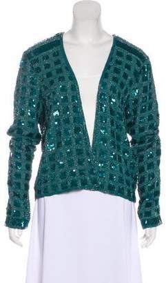 Calypso Silk-Blend Beaded Jacket