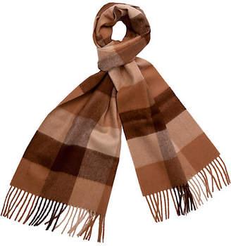 A & R Cashmere A&R Cashmere Men's Alpaca Wool Check Scarf - Camel - a&R Cashmere