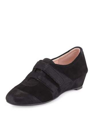 Taryn Rose Pople Sport Demi-Wedge Sneaker, Black $145 thestylecure.com