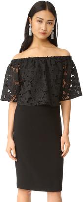 Shoshanna Floral Cutout Off Shoulder Dress $395 thestylecure.com