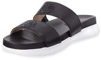 Taryn Rose Ina 2-Band Leather Slide Sandal