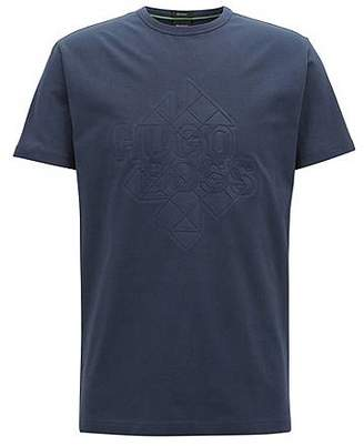 HUGO BOSS Stretch-cotton T-shirt with embossed artwork