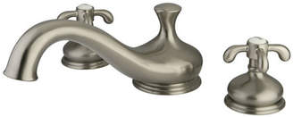 Kingston Brass French Country Double Handle Deck Mount Roman Tub Faucet