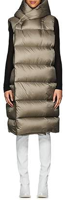 Rick Owens Women's Down-Quilted Hooded Puffer Vest - Dust