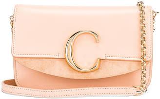 Chloé C Chain Clutch Bag in Delicate Pink   FWRD