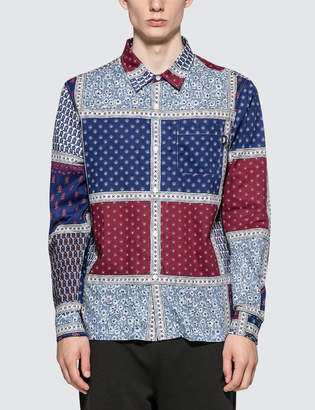 Stussy Paisley Patchwork L/S Shirt