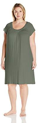 Arabella Women's Plus Size Short Sleeve Nightshirt