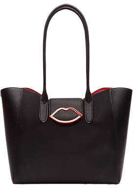 Lulu Guinness Large Cupids Bow Sofia Tote Bag, Black