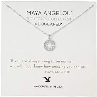 Dogeared Maya Angelou If You Are Always Trying To Be Normal Cutout Sun Disc Charm Sterling Pendant Necklace