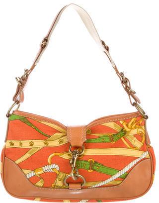 Miu MiuMiu Miu Canvas Shoulder Bag