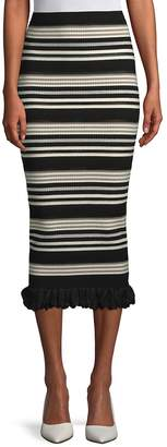 Ronny Kobo Women's Marta Striped Midi Skirt