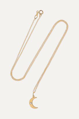 Andrea Fohrman Crescent Moon 18-karat Gold Diamond Necklace