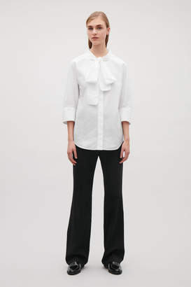 Cos SHIRT WITH BOW NECK TIE