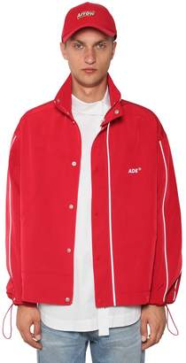 Zip-Up Nylon Windbreaker Jacket
