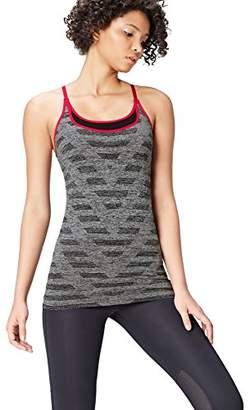 Active Wear Activewear Double Layer Chevron Seamless Sports Vest,(Manufacturer size: Large)