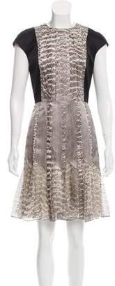 Jason Wu Animal Print Knee-Length Dress