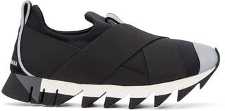Dolce & Gabbana Black Straps Slip-On Sneakers $575 thestylecure.com