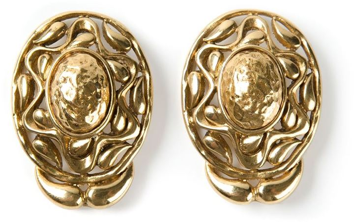 Saint Laurent Vintage cut out earrings