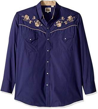 Ely & Walker Men's Long Sleeve Embroidered Shirt