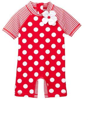 Little Me Big Dot Rashguard Suit (Baby Girls)