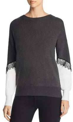 Vero Moda Smilla Lace Trim Color Block Sweater