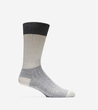 Cole Haan Melange Color-Block Crew Socks