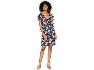 Splendid Ramo Floral Print Ruffle Dress