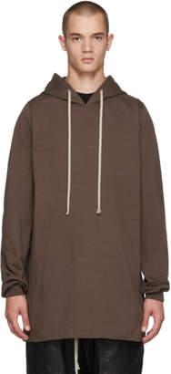 Rick Owens Brown T-Shirt Hoodie