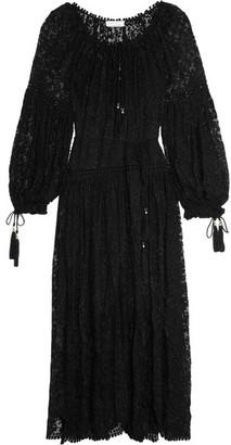 Zimmermann - Embroidered Silk-georgette Dress - Black $1,195 thestylecure.com