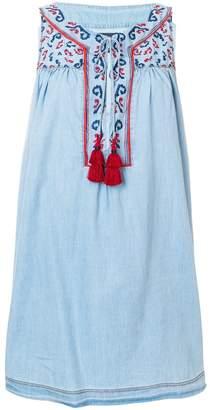 Ermanno Scervino short embroidered tassel dress