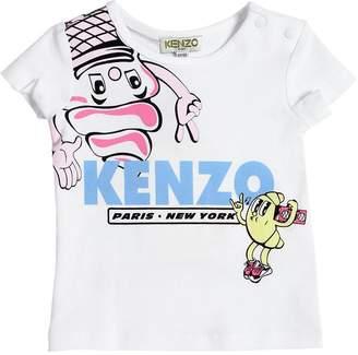 Kenzo Ice Cream Logo Print Jersey T-Shirt
