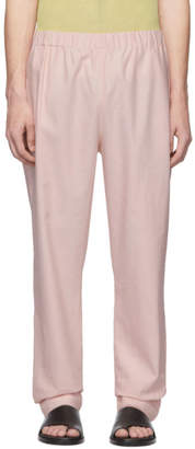 Tibi SSENSE Exclusive Pink Linen Viscose Trousers