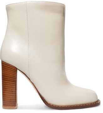 Marni Leather Ankle Boots - White