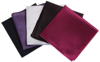 BEIGE DEIA0001 Contemporary Gift Hanky Various Microfiber 5 Hankerchiefs Set-Hot Pink, White, Purple, Brown, Black By Dan Smith