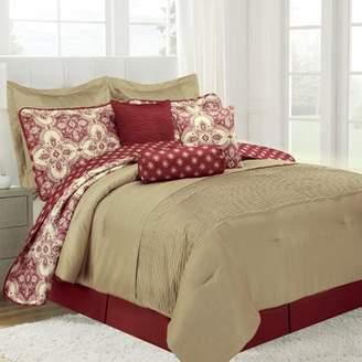 Design Studio Patina 10pc Red Comforter Set King