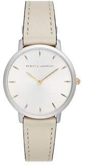 Rebecca Minkoff Major Stainless Steel Leather Strap Analog Watch
