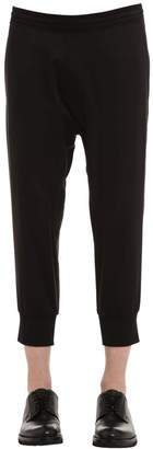 Neil Barrett Cropped Satin Jogging Pants