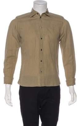 Dolce & Gabbana Sicilia Linen-Blend French Cuff Shirt