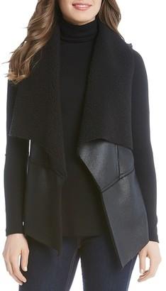 Karen Kane Faux Shearling Vest $138 thestylecure.com