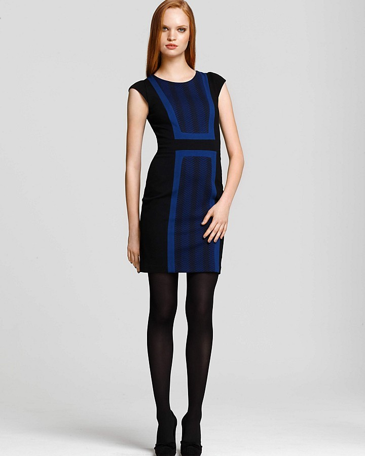 BCBGMAXAZRIA Colorblocked Dress