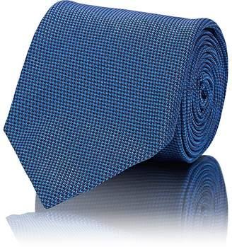 Brioni Men's Mini-Chevron-Weave Textured Silk Necktie