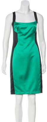 Just Cavalli Satin Colorblock Dress w/ Tags