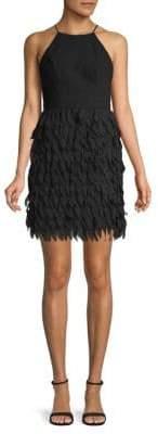 Aidan Mattox Chiffon Sheath Dress